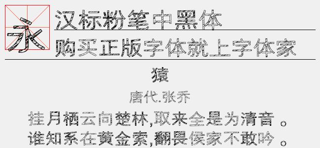 汉标粉笔中黑体(28.13 M)效果图