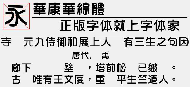 华康华综体(3.93 M)效果图