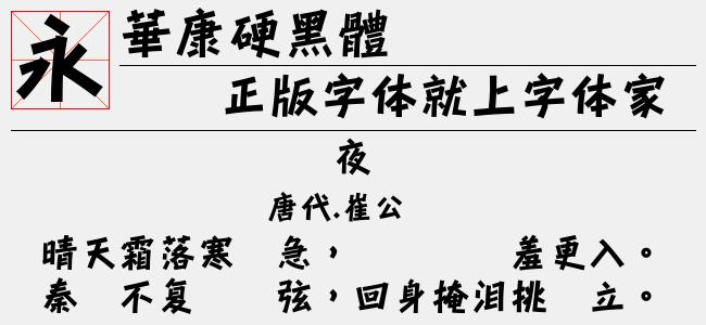 华康硬黑体(6.17 M)效果图
