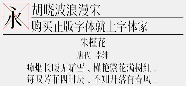 胡晓波浪漫宋(Regular)预览图