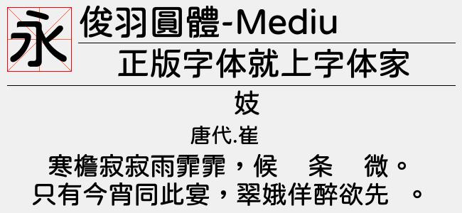 俊羽圓體-Medium(Regular)预览图