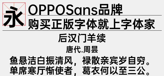 OPPOSans品牌 L(Regular)预览图