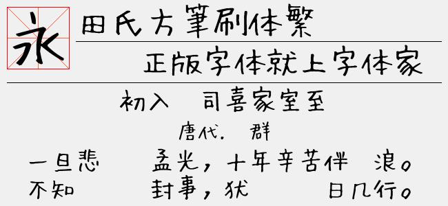 田氏方筆刷体繁(3.15 M)效果图