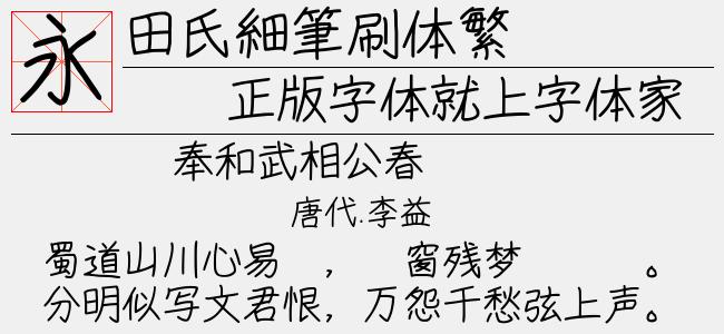 田氏細筆刷体繁(4.87 M)效果图
