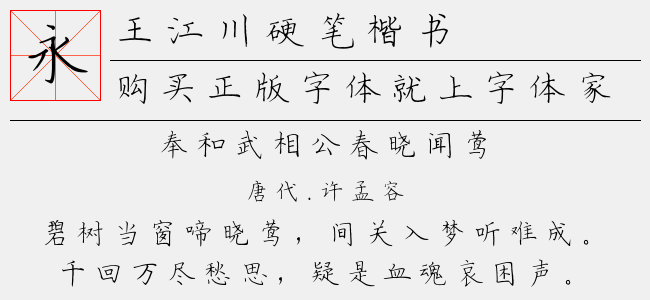 王江川硬笔楷书(1.70 M)效果图